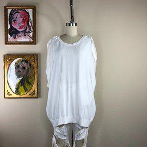 COS Pleat Shoulder Knit Top Batwing Oversized Blou